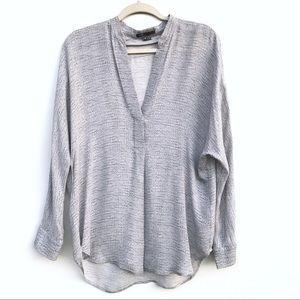 Vince knit print popover blouse